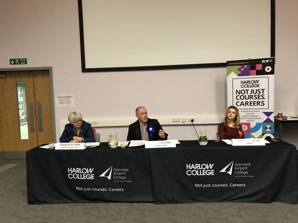 Harlow College students grill parliamentary candidates. 1