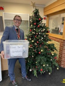 Burnt Mill Academy staff donate for food bank's Christmas appeal